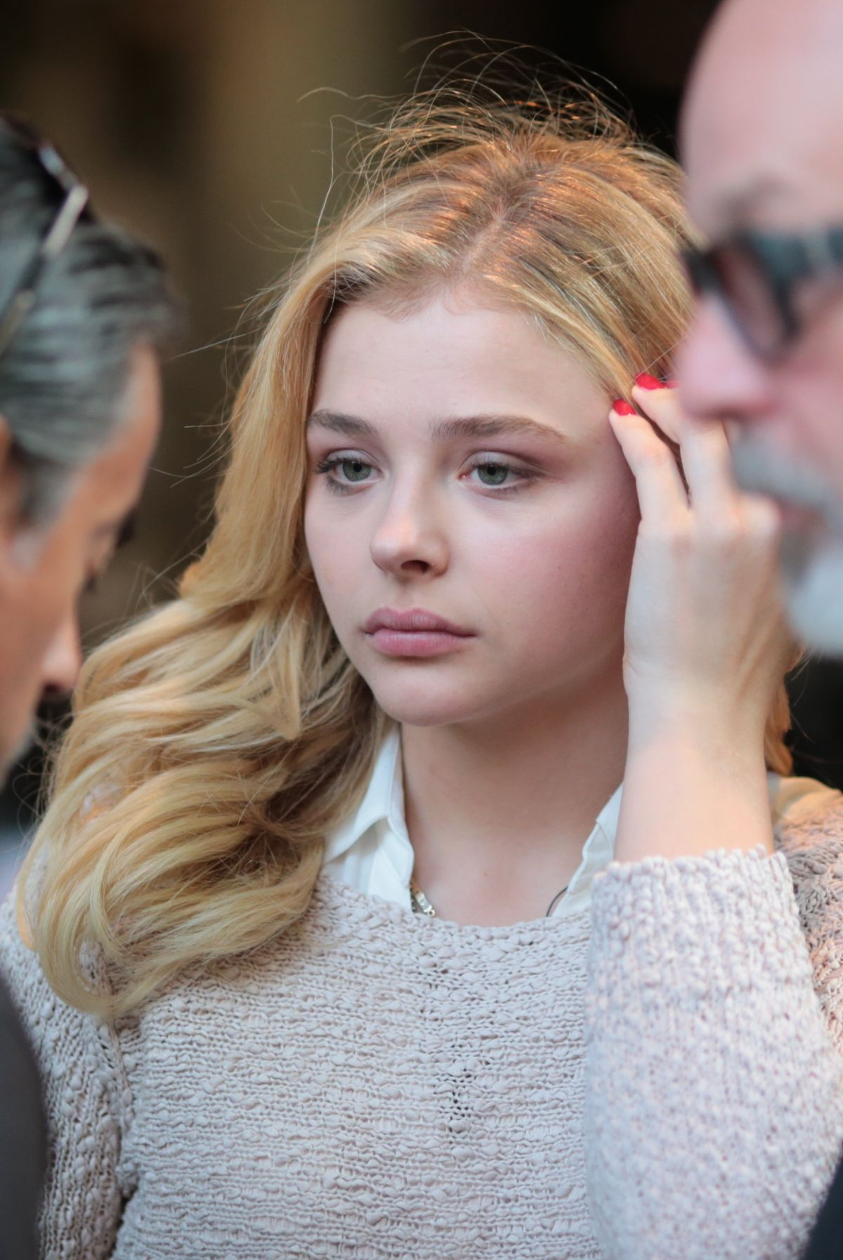 CHLOE MORETZ on the Set of Brain on Fire in Vancouver 07 ...