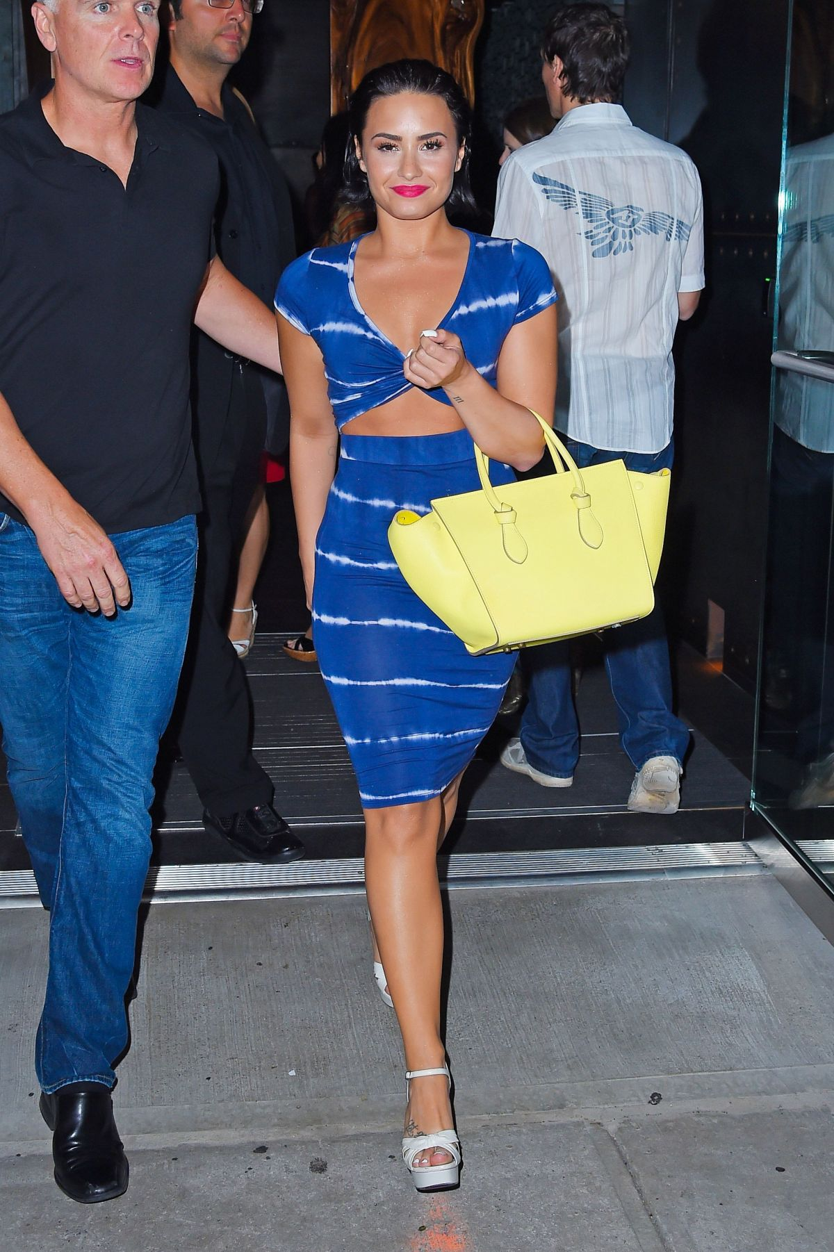 demi lovato leaves zuma restaurant in new york 07012015 - Blue Restaurant 2015