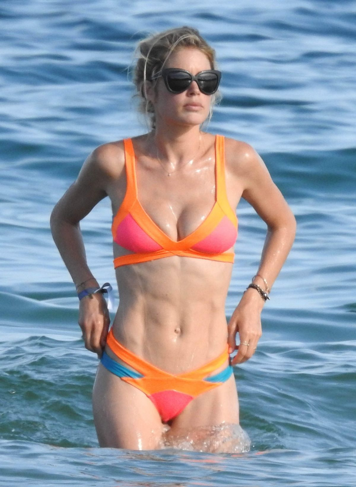 Doutzen kroes in bikini at the beach in ibiza