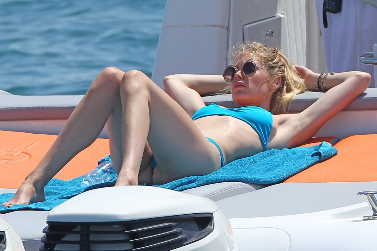 DOUTZEN KROES in Bikini at a Boat in Ibiza 07/22/2015