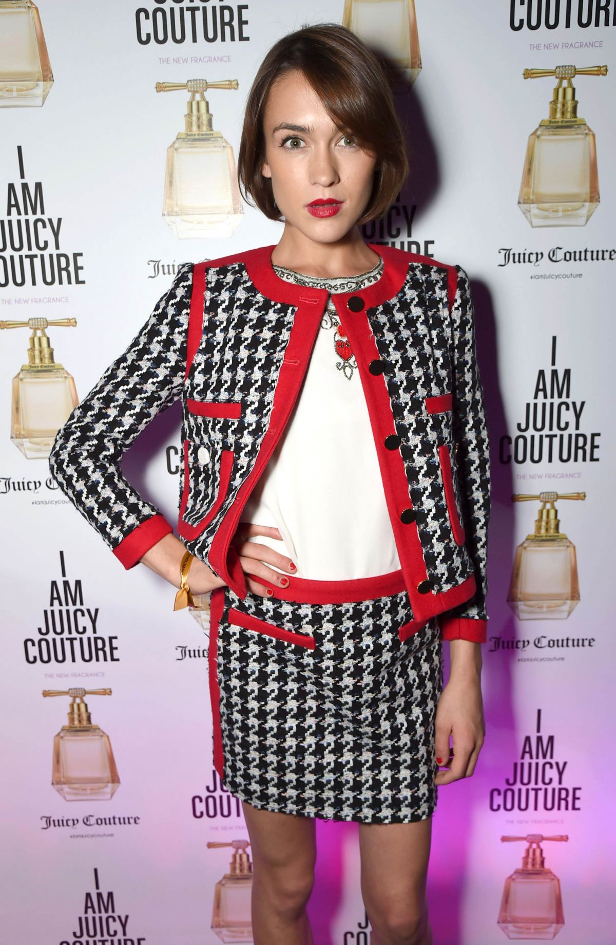 ELLA CATLIFF at I Am Juicy Fragrance Launch in London