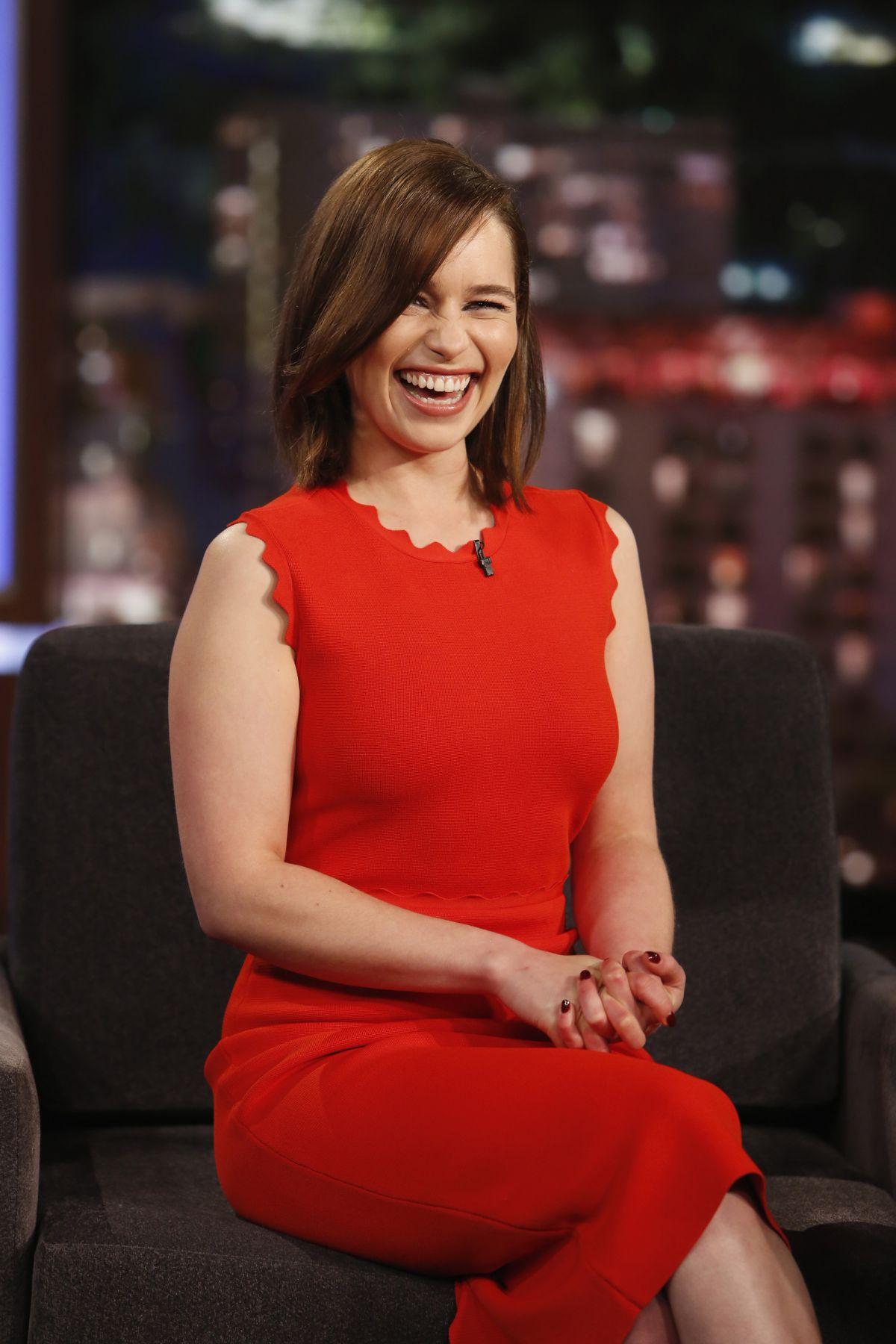 EMILIA CLARKE at Jimmy Kimmel Live! in Hollywood 06/29/2015 ...