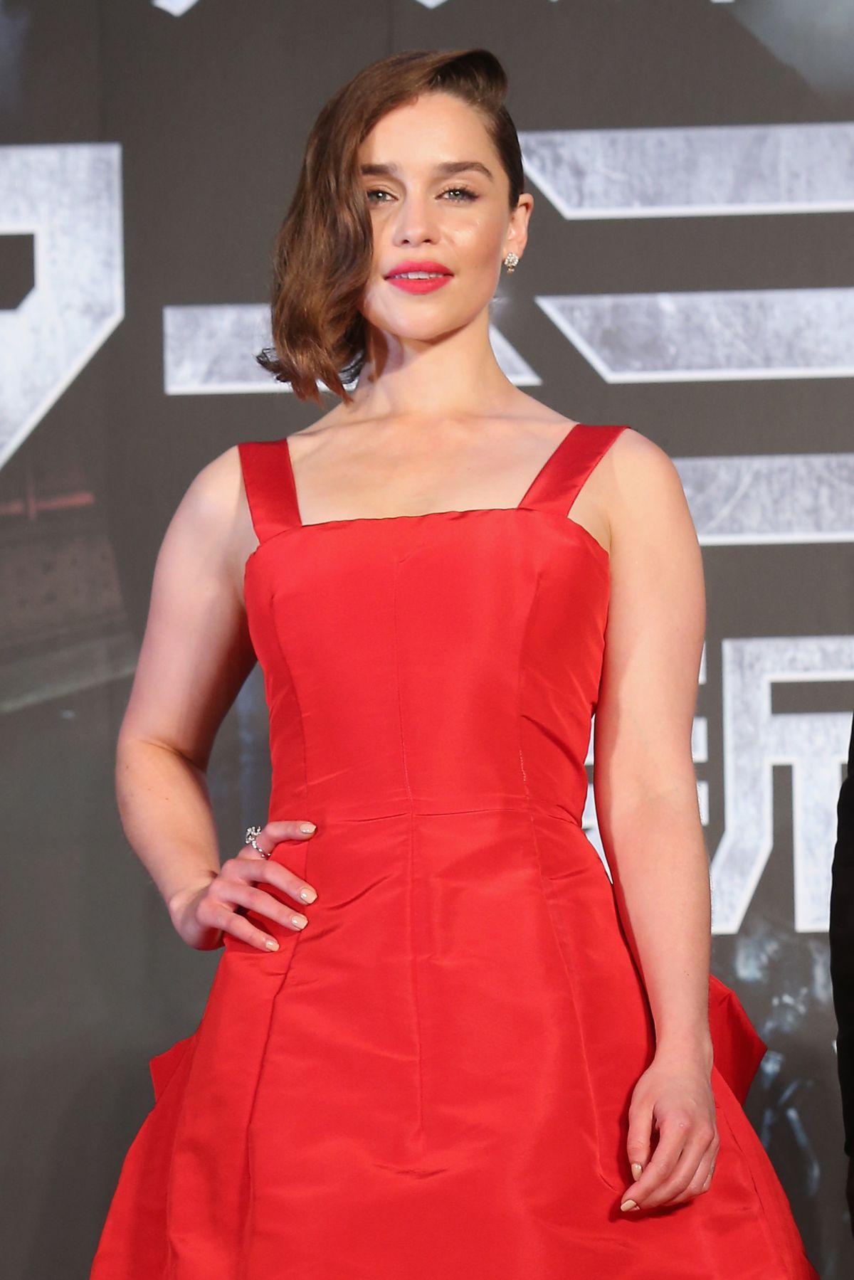 EMILIA CLARKE at Terminator: Genisys Premiere in Tokyo - HawtCelebs ...