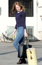 EMMA STONE Out and About in Los Angeles 07/07/2015