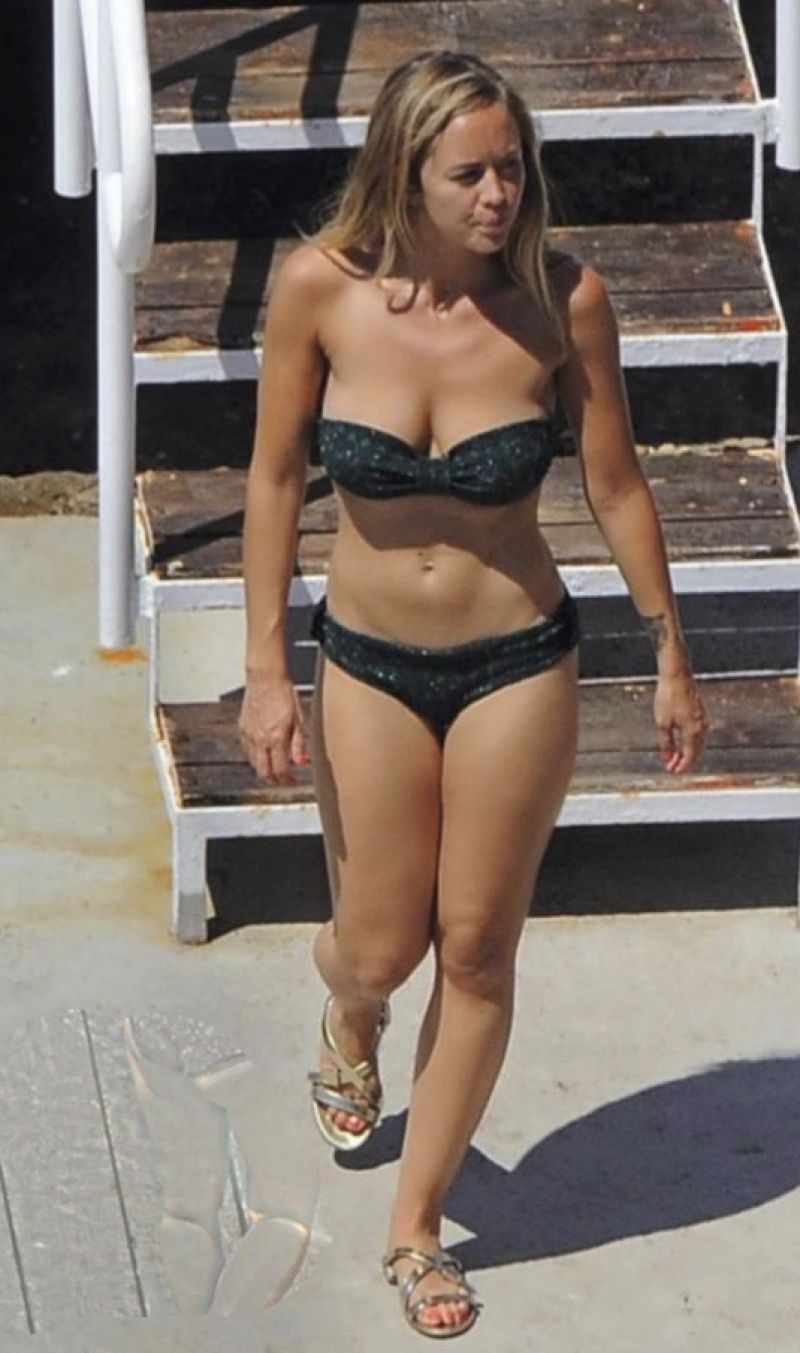 ENORA MALAGRE in in Bikini at a Beach in Italy