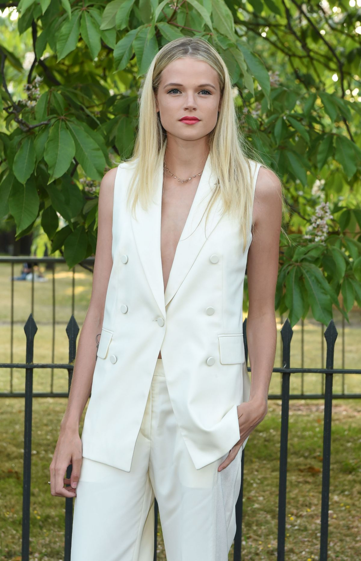 GABRIELLA WILDE at Serpentine Gallery Summer Party in London