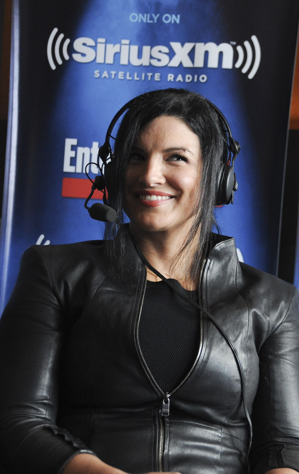 GINA CARANO at SiriusXM EW Radio Channel at comic Con in San Diego