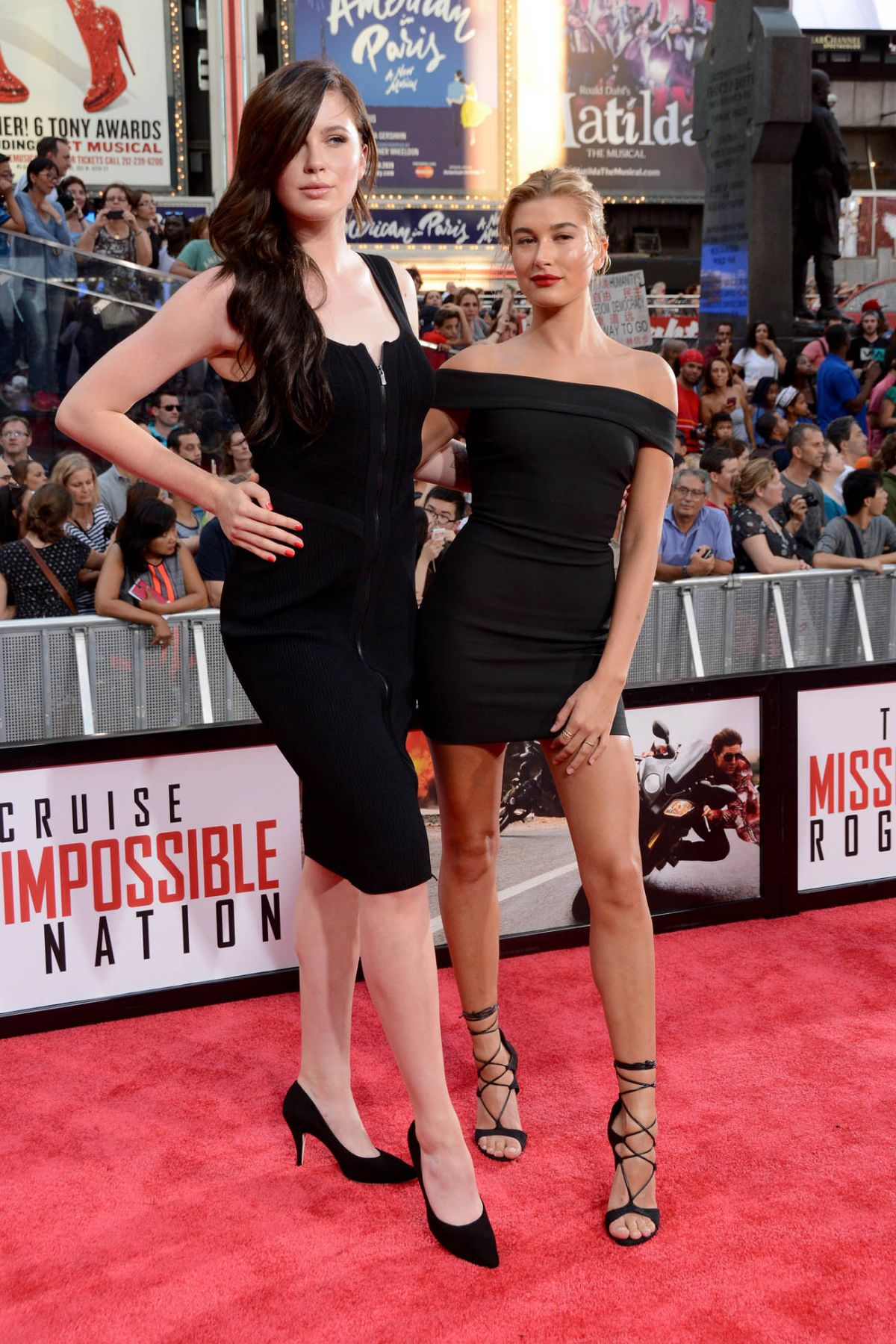HAILEY, IRELAND and ALAIA BALDWIN at Mission: Impossible – Rogue Nation Premiere in New