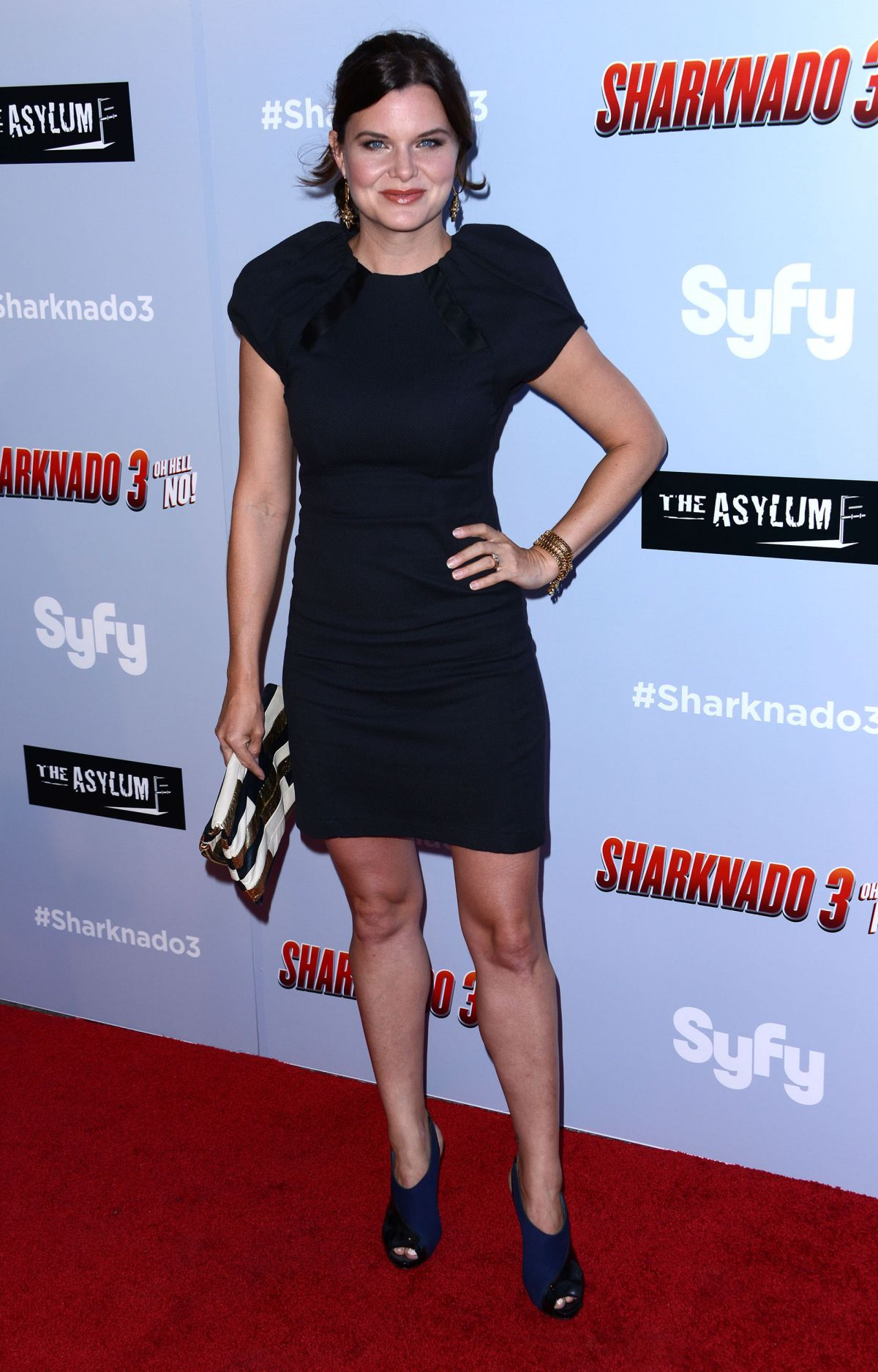 HEATHER TOM at Sharkando 3: Oh Hell No! Premiere in Los Angeles