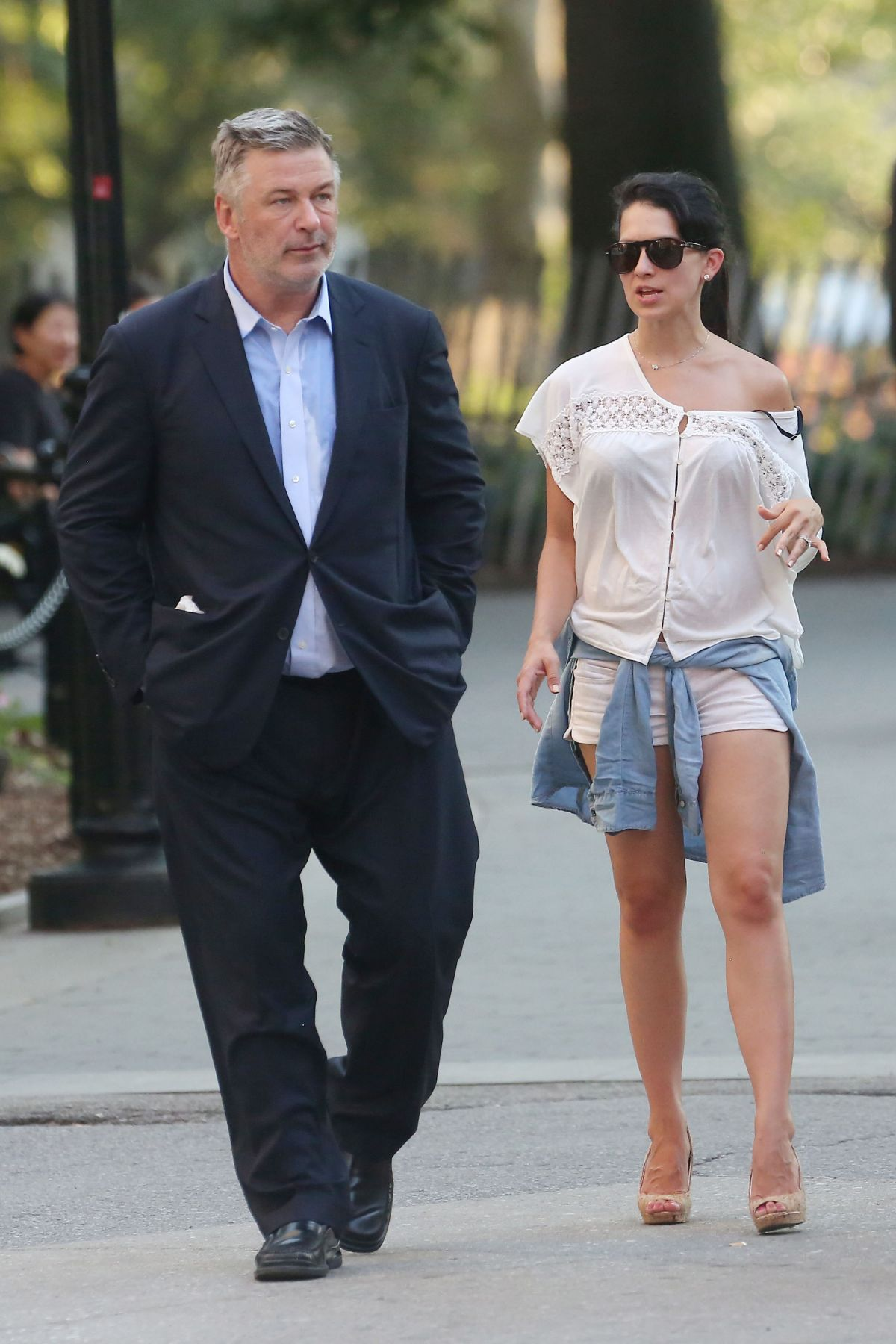 HILARIA and Alec BALDWIN Out in The West Village 07/28/2015