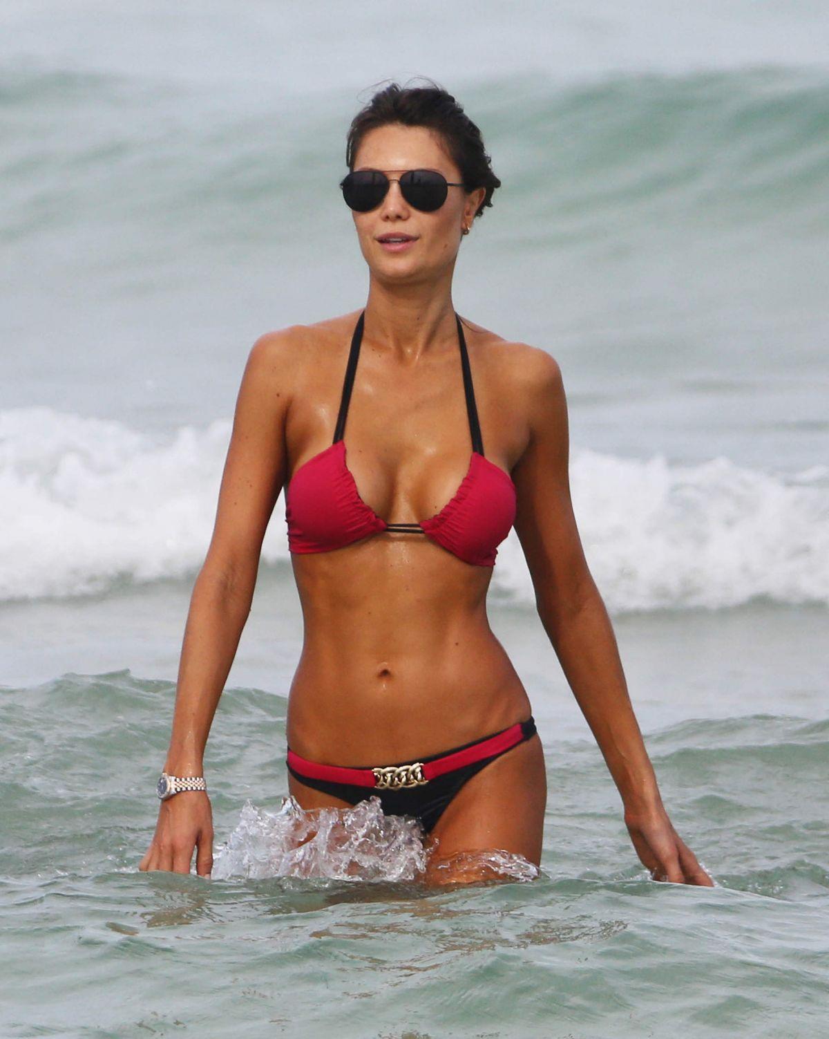 JULIA PEREIRA in Bikini at a Beach in Miami 07/20/2015