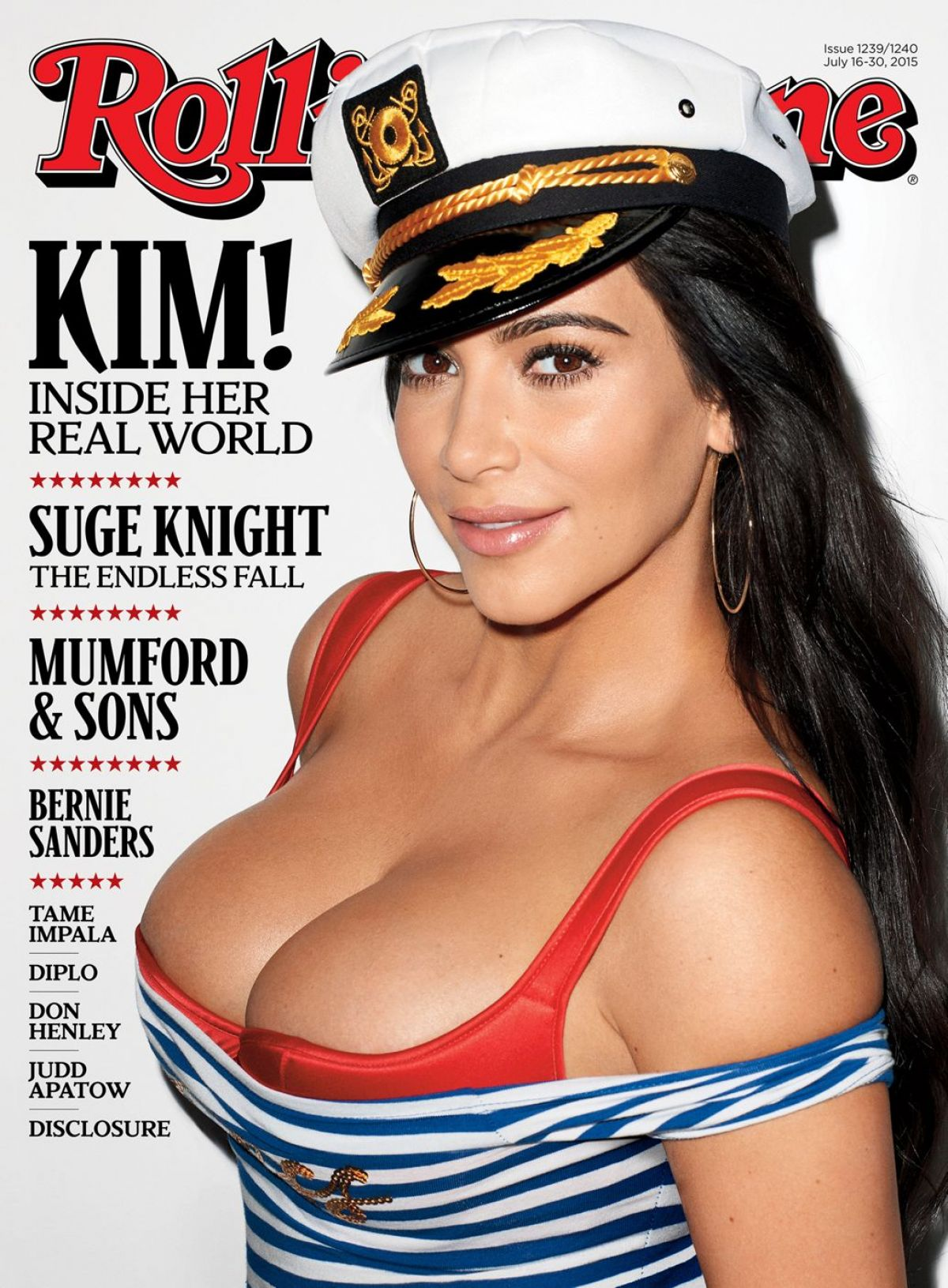 KIM KARDASHIAN on the Cover of Rolling Stone Magazine, July 2015 Issue