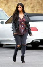 KIM KARDASHIAN on the Set of Keeping Up With The Kardshians at Bowling Alley 07/01/2015