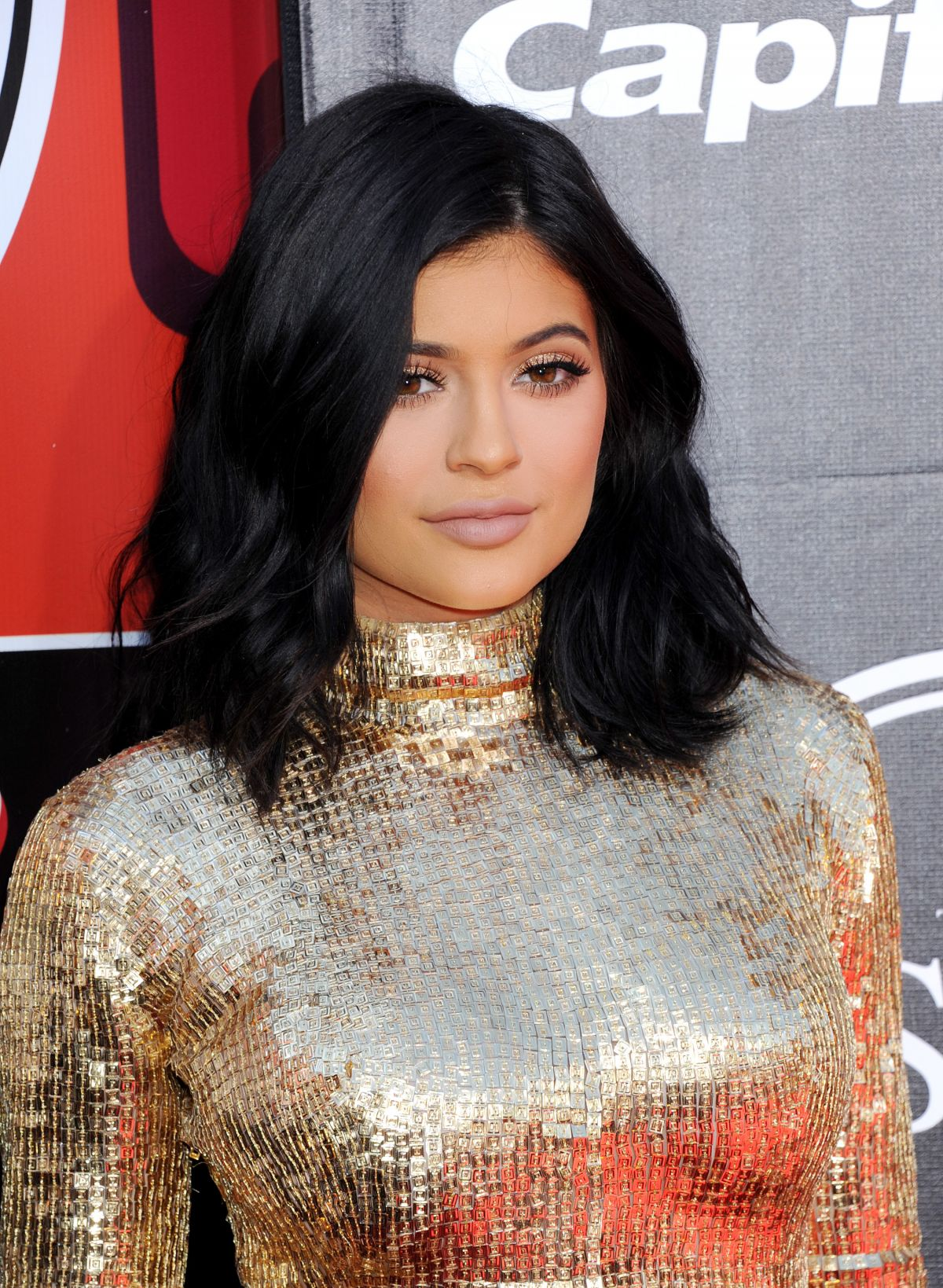 Kylie Jenner Arrives On The Red Carpet At Our Balmain X H: KYLIE JENNER At 2015 Espys Awards In Los Angeles