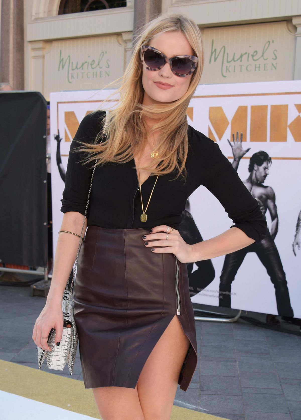 LAURA WHITMORE at Magic Mike XXL Premiere in London