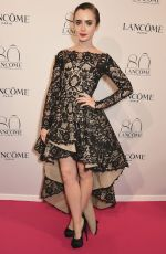 LILY COLLINS at Lancome 80th Anniversary Party in Paris