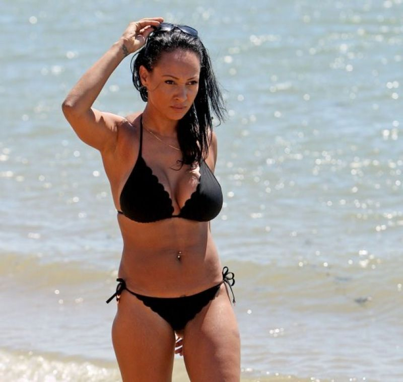 LISA MAFFIA in Bikini at a Beach in Essex
