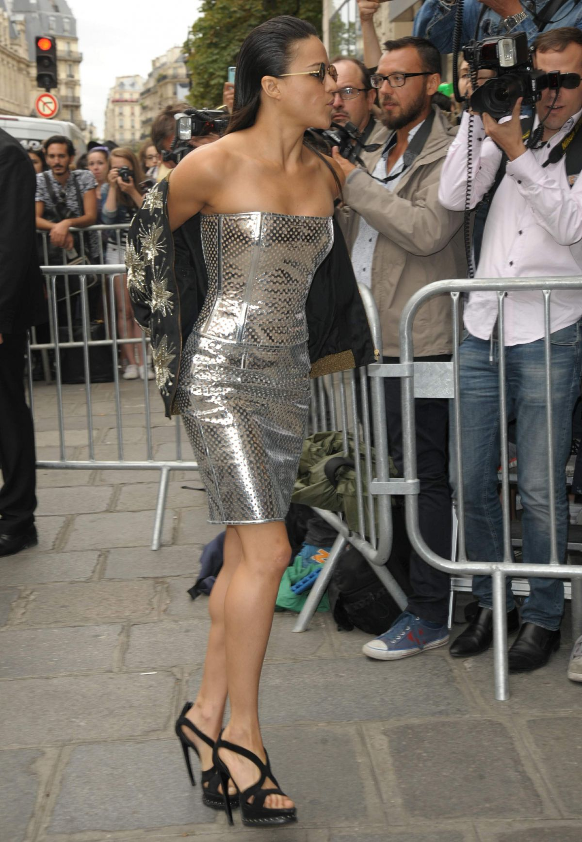 MICHELLECRODRIGUEZ at Jean Paul Gaultier Fashion Show in Paris