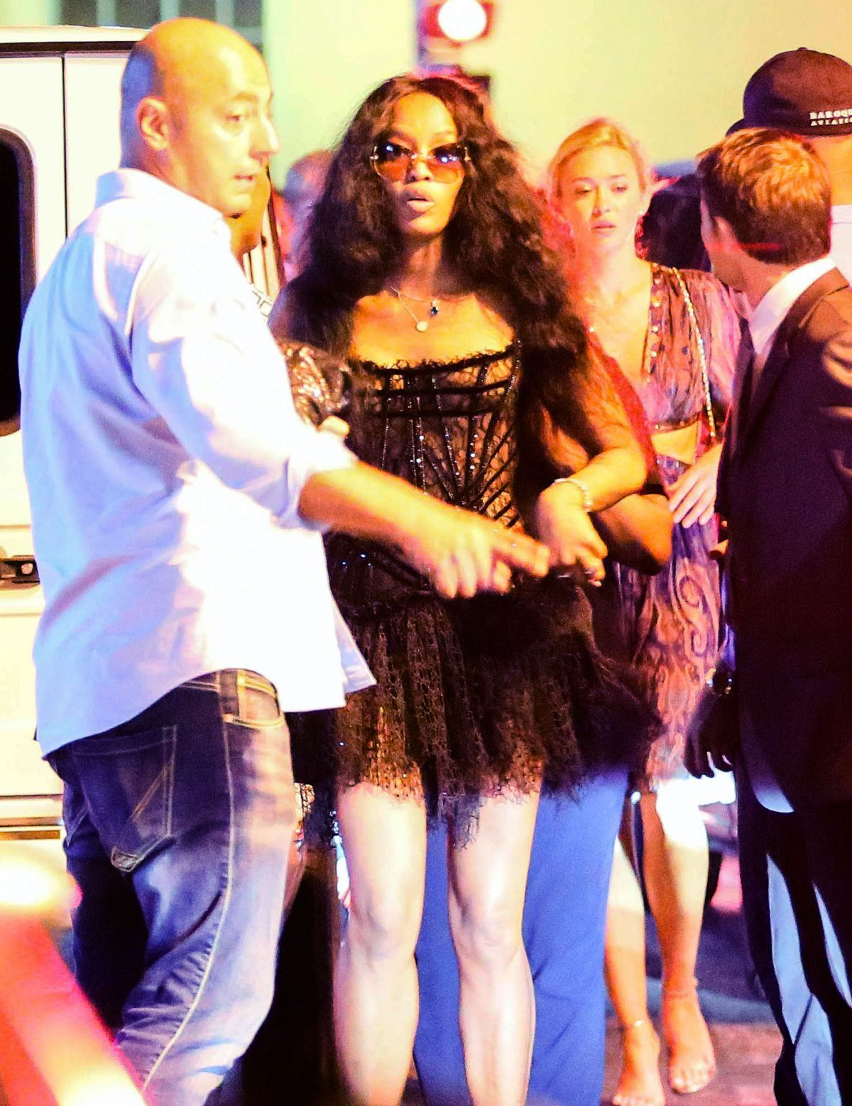 naomi campbell at vip room in st tropez 07 23 2015 hawtcelebs. Black Bedroom Furniture Sets. Home Design Ideas