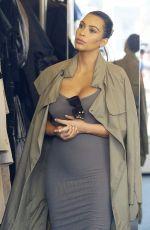 Pregnant KIM KARDASHIAN Shopping at Fred Segal in West Hollywood 07/16/2015