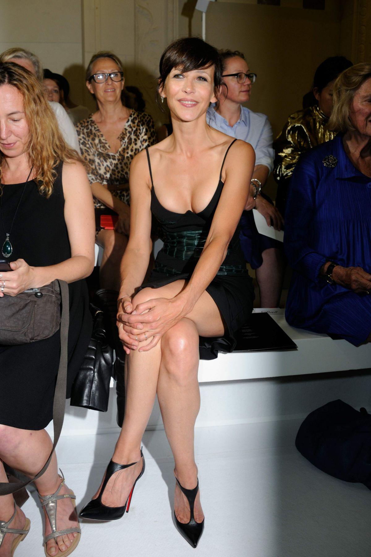 SOPHIE MARCEA at Alexandre Vauthier Fashion Show in Paris