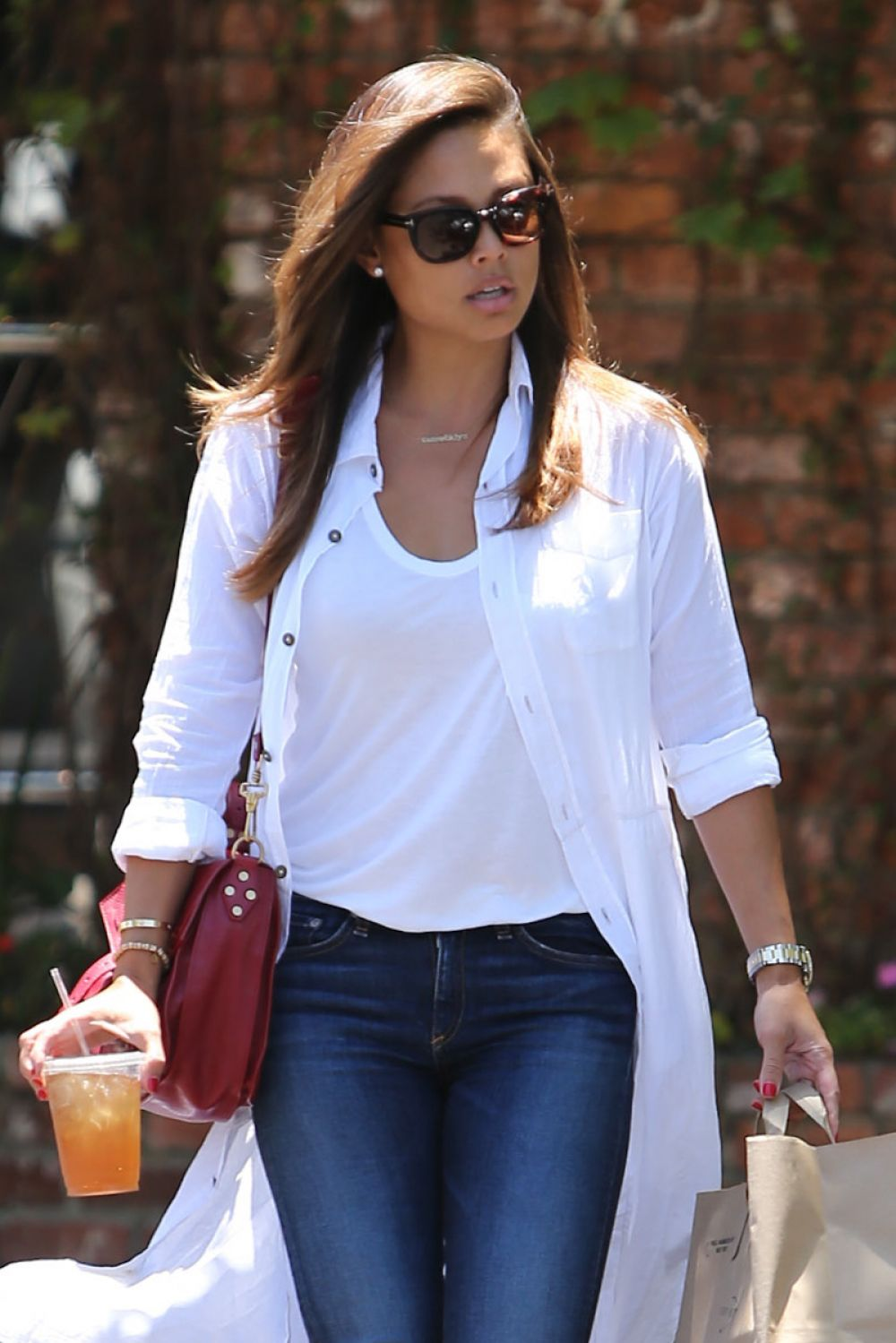 VANESSA LACHEY in Tight Jeans Out in West Hollywood 07/11/2015
