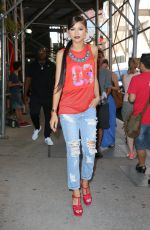 ZENDAYA COLEMAN in Ripped Jeans Out in New York 07/22/2015