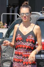 ALESSANDRA AMBROSIO Out and About in Brentwood 08/27/2015