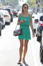ALESSANDRA AMBROSIO Out and About in Brentwood 08/28/2015