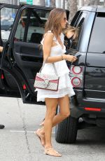 ALESSANDRA AMBROSIO Out for Lunch in Santa Monica 08/24/2015