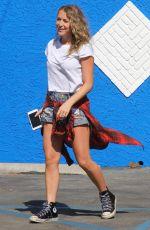 ALEXA VEGA in Jeans Shorts at DWTS Studio in Hollywood 08/27/2015