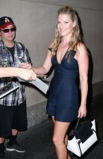 ALI LARTER Arrives at The Today Show in New York 08/27/2015