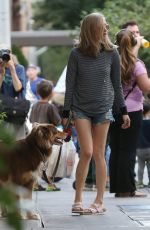 AMANDA SEYFRIED and Her Dog Finn Out in New York 08/27/2015