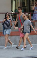 AMANDA SEYFRIED in Jeans Shorts Out in New York 08/12/2015