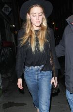 AMBER HEARD Night Out in London 08/25/2015