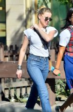 AMBER HEARD Out and About at Disneyland in Anaheim 08/27/2015