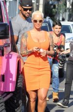 AMBER ROSE Out and About in Hollywood 07/29/2015