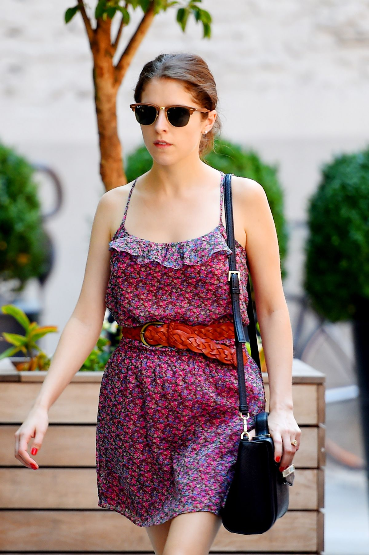 ANNA KENDRICK Out and About in Soho 08/14/2015