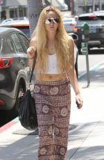 ANNASOPHIA ROBB Out Shopping in Beverly Hills 07/31/2015