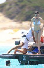 ANNE HARHAWAY in Bikini & at a Boat in Ibiza 08/13/2015