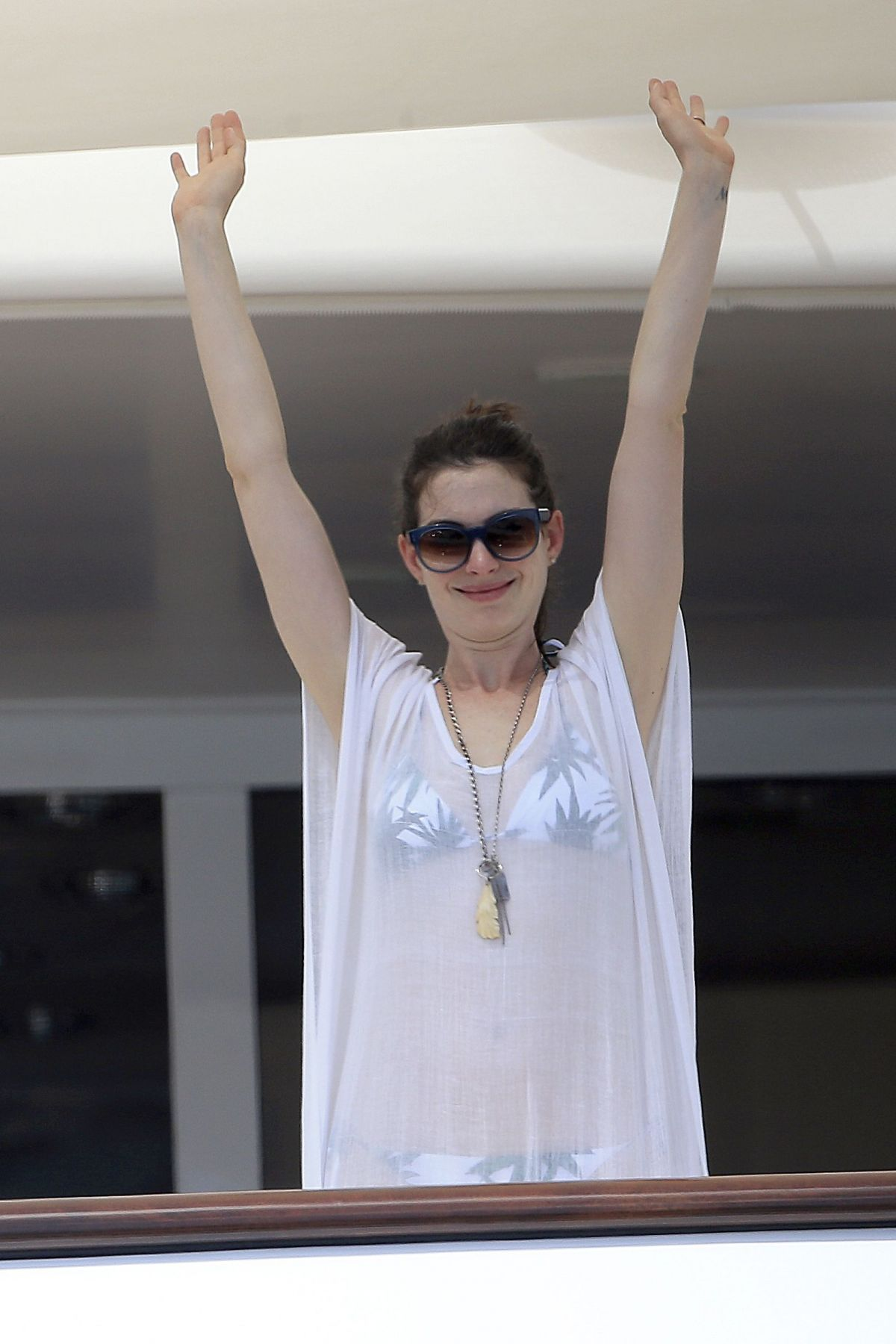 ANNE HATHAWAY at a Yacht in Spain 08/12/2015