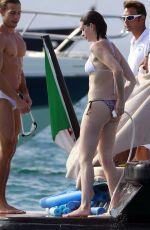 ANNE HATHAWAY in Bikini on a Yacht in Spain 08/14/2015