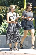 ASHLEY BENSON and Friend Out in Los Angeles 08/01/2015