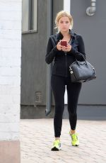 ASHLEY BENSON Heading to a Gym in Los Angeles 07/31/2015