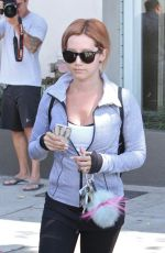 ASHLEY TISDALE Leaves Rise Movement in West Hollywood 08/03/2015