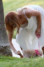 ASHLEY TISDALE Walks Her Dog in Beverly Hills 08/02/2015