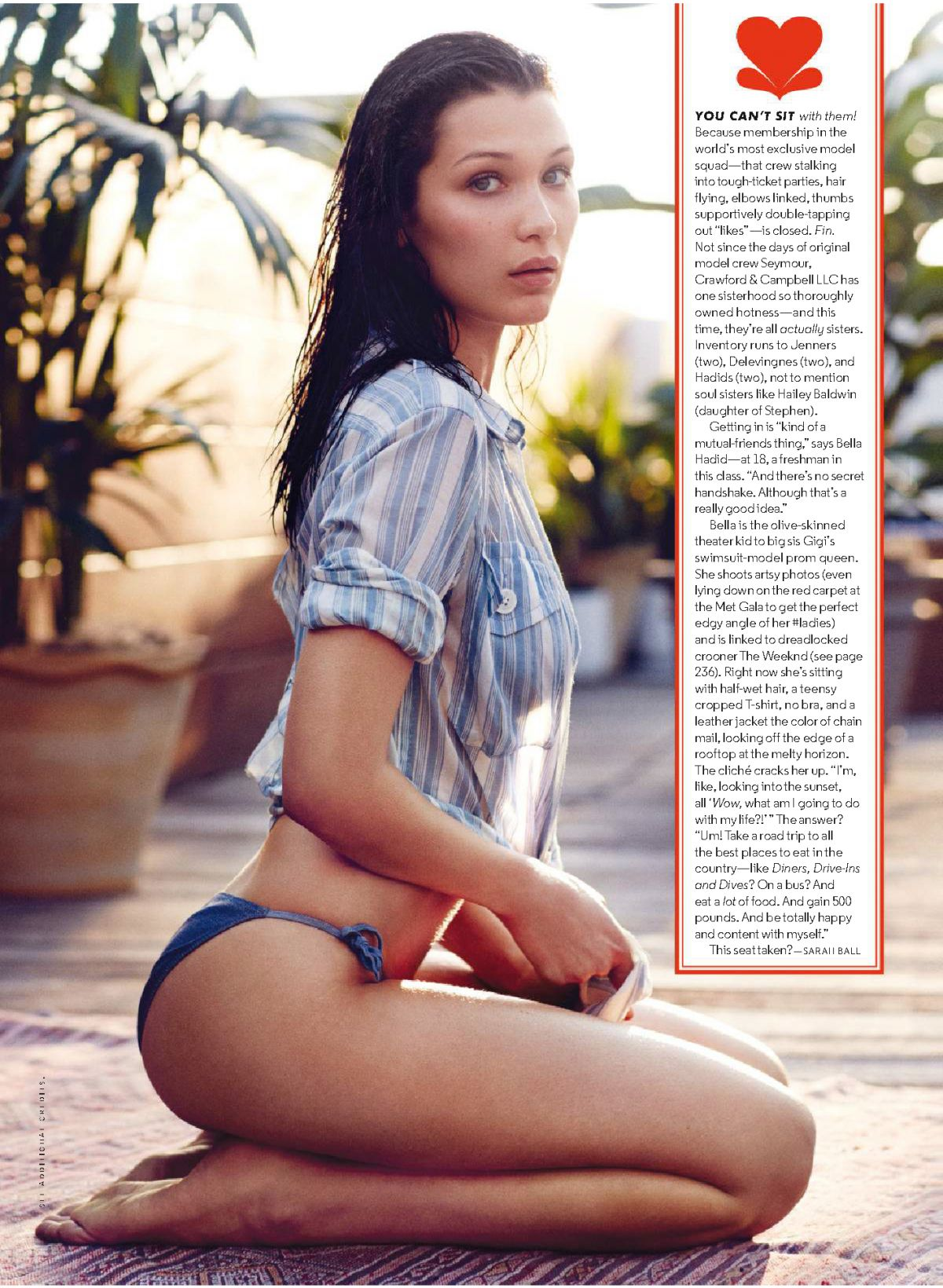 2015 Gq Men Of The Year Party In Los Angeles: BELLA HADID In GQ Magazine, September 2015 Issue