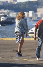 BEYONCE at a Heliport in New York 07/31/2015