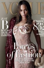 BEYONCE in Vogue Magazine, September 2015 Issue