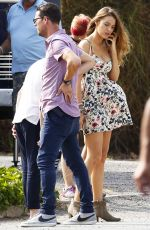 BLAKE LIVELY on the Set of All I See Is You in Barcelona 07/31/2015
